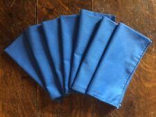 7 Vintage Cloth Blue Napkins!!