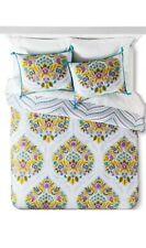 Nip Boho Boutique India Flower Multi Floral Cotton Duvet Set 3pc king