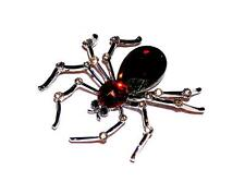 BROOCH/PIN Topaz Color Rhinestones & Graytone GIANT KNOBBY KNEES SPIDER