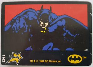 Batman 1989 Dandy Sticker Series COMPLETE