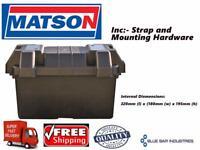Battery Box M Size  Lid & Strap Inc  Automotive Dual Battery Acid Proof Mechanic