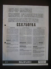 SUZUKI GSX750FK4 Set Up Manual GSX 750 FK4 Set-Up 99505-01144-011 Motorcycle