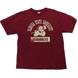 Disney Florida State University FSU Seminoles Shirt Sz XL Mickey Mouse Football