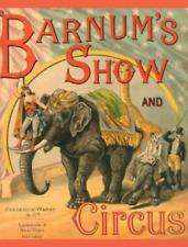 Repro. Postcard: Vintage Circus Scene w/ Elephant & Giraffe - Barnum