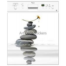 Magnete lavastoviglie decocrazione sassi con un' fiore 60x60cm ref 036 036