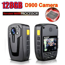 """2"""" LCD 128GB HD 1080P D900 140° Police Wearable Video Camera Recorder DVR 16:9"""