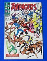 AVENGERS #44 COMIC BOOK Origin Black Widow ~ Marvel Silver Age 1967 ~ VF