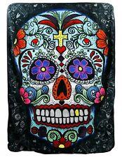 Big Sugar Skull Fleece Throw Blanket Cool Unique Gift DAY OF THE DEAD
