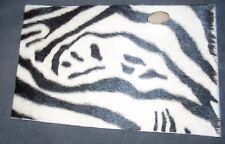 Hide Carpet Rug 1:12 Miniature White & Black Faux Zebra Cowhide Western #2179