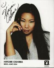 Playboy Playmate signed/autographed photo Hiromi Oshima 5-04