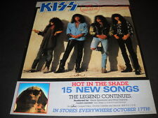 Kiss Are Hot In The Shade with 15 New Songs original 1989 Promo Poster Ad mint