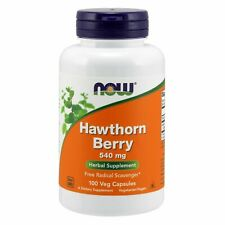 Now Foods HAWTHORN BERRY 540 mg, 100 Veg Capsules FREE RADICAL SCAVENGER