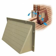 """9"""" x 6"""" Cream / Buff Hooded Cowl Vent Cover for Air Bricks Grilles Extractors"""