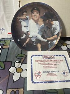 NY Yankees Sports Impressions Mickey Mantle Yankee Forever Collectible Plate LE