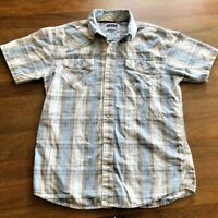 Mens Levis Strauss Western Style Pearl Snap Button Down S/S Shirt Medium M