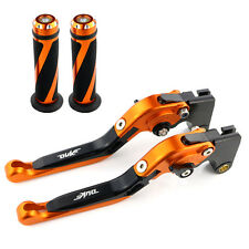 CNC Clutch Brake Levers and Grips For KTM 690 Duke 2008 2009 2010 2011 Orange