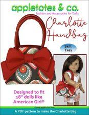 "American Girl Doll Sewing Pattern - Charlotte Handbag Pattern for 18"" Dolls"