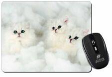 White Chinchilla Kittens Computer Mouse Mat Christmas Gift Idea, AC-44M