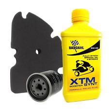 Kit tagliando 2L Bardahl XTM Scooter 5W40 filtro olio aria originale Piaggio