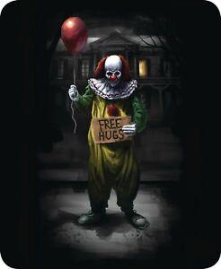 Queen Free Hugs IT' Red Balloon Clown Scary Mink Faux Fur Blanket Warm Soft Full