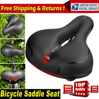 Wide Big Bum Bike Bicycle Thicken Soft Foam Extra Comfort Sporty Pad Saddle Seat
