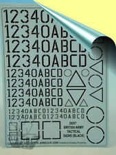 Accurate Armour 1:35 British Tac' Markings (Black) DE07*