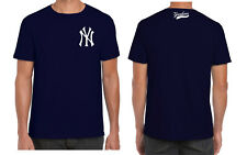 NY YANKEES BASEBALL T SHIRT TOP TEE UNISEX FRONT&BACK logo cool hipster classic