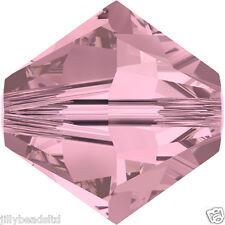 Swarovski 5328 Xilion Bicone Beads  4mm : Crystal Antique Pink (50 beads)