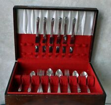 Oneida Community MILADY 6 Place Settings 1940 Vintage Floral Art Deco Flatware