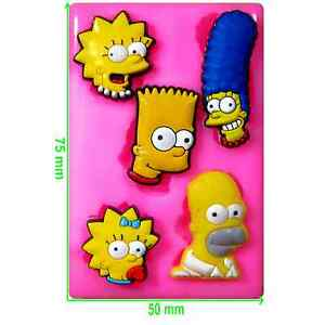 Simpsons Family (5 in one) Mould by Fairie Blessings