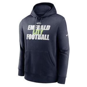New 2021 NFL Seattle Seahawks Nike Fan Gear Local Club Logo Pullover Hoodie NWT
