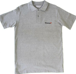 Men's Mclaren Polo T-shirt, Size Large. Grey. BNWT.