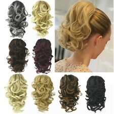Women Synthetic Claw Clip Ponytail Extension Short Wave Pony Tail Hair Piece UK