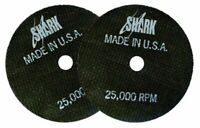 "Shark 12704 3"" x 1/16"" x 3/8"" Double Reinforced Cut-off Wheels, 54-Grit, 10pk"