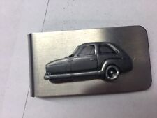 Bond 875 (Three Wheeler) ref32 pewter effect car emblem on a stunning Money Clip