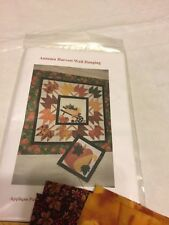 AUTUMN HARVEST WHEEL BARROW WALL HANGING QUILTING KIT 33 X 33 PIECEFUL QUILTING