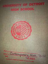 1974 UNIVERSITY OF DETROIT HIGH SCHOOL YEARBOOK  MI