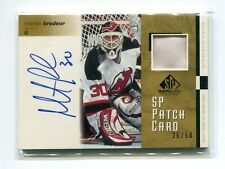 2001-02 SP Game Used Patches Autographs #SPMB Martin Brodeur 26/50