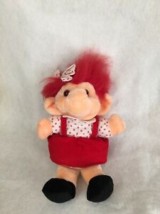 "Vintage1992 Chosun Trolio Trolls Hand Puppet Plush Doll 14"""