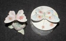 Butterfly Flower Decorative Ornament Trinket Candy Dish Butterflies Art (Set 2)