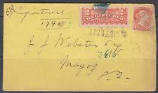 Canada Scott #F1 & #37 Register Cover 1884  *