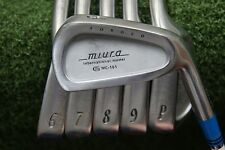 MIURA INTERNATIONAL MODEL MC-101 5-PW IRON SET NIPPON STEEL STIFF FLEX w147737