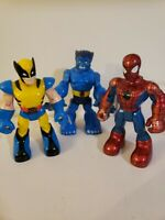 Toy Biz Spiderman and Friends 3 Action Figure Lot Wolverine Beast X-Men Marvel