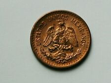 Mexico 1942 Mo 1 CENTAVO Coin AU+ with Toned-Lustre & Eagle Coat of Arms