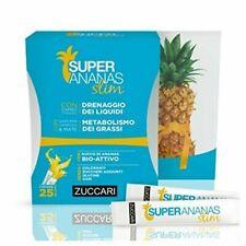 ZUCCARI Super Ananas Slim 25 Bustine da 10ml per Drenaggio dei Liquidi