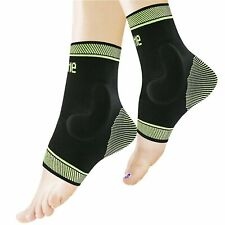 Protle Socks, Ankle Sleeve Brace Compression Support Silicone pad Sz Large NIOB