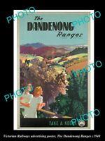 OLD HISTORIC AUSTRALIAN ADVERTISING POSTER DANDENONG RANGES TAKE A KODAK c1940
