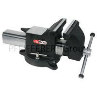 KS-Tools Schraubstock 200 mm für Werkbank Drehteller