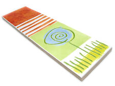 Fliesen Bordüren 24,7x7cm Badbordüre Keramikbordüre Scenery T2 orange hellgrün