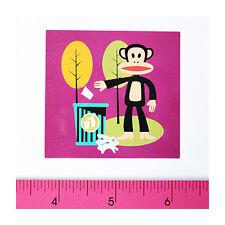 Skateboard Guitar Laptop Vinyl Decal Sticker - Recycle Trash Bin Clear Monkey
